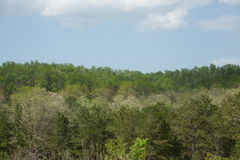 Ozark Mountains. The rolling hills of the Ozark Mountains stock photography