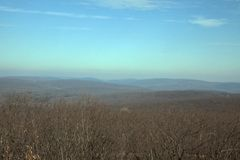 Ozark Mountains in Winter. An Ozark Mountain landscape in the winter Stock Photography