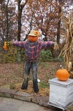 Ozark scarecrow. Scarecrow on display during Thanksgiving holiday celebration at the Ozark Folk Center Royalty Free Stock Images
