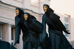 ozdabia teatr trzy Vilnius Fotografia Royalty Free