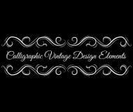 Ozdobna ślimacznica, dekoracyjni projektów elementy Rocznik winiety granicy Kaligraficzny rocznika projekta element wektor ilustracji
