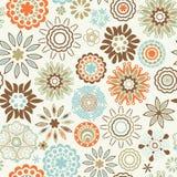ozdobna kwiecista bezszwowa tekstura, niekończący się wzór z kwiatu kiblem Zdjęcie Royalty Free