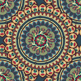 Ozdobna kwiecista bezszwowa tekstura, niekończący się wzór z rocznika mandala elementami Obraz Royalty Free