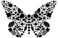 Ozdobna motylia ilustracja Obraz Stock