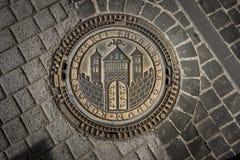 Ozdobna odciek pokrywa, Boppard, Niemcy Zdjęcie Stock