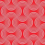Ozdobnej geometrii bezszwowy wzór z płatkami ilustracji