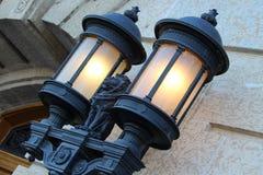 Ozdobni światła przy Prawodawczym Buduje Regina Saskatchewan Zdjęcie Royalty Free