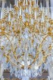 Ozdobny świecznik w eremu muzeum sztuki i kultura w Świątobliwym Petersburg, Rosja w zima pałac zdjęcie royalty free