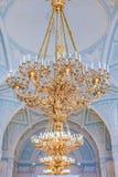 Ozdobny świecznik w eremu muzeum sztuki i kultura w Świątobliwym Petersburg, Rosja w zima pałac fotografia stock