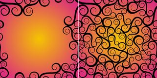 ozdobny abstrakcjonistyczny tło wzrastał Obraz Royalty Free