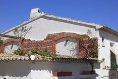 Ozdobny Brickwork Costa Blanca Hiszpania Zdjęcie Royalty Free