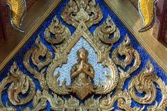 Ozdobny Buddha w Wacie Phra Kaeo obraz royalty free
