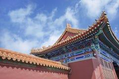 Ozdobny budynek na słonecznym dniu, Pekin, Chiny obrazy royalty free