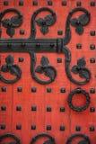 Ozdobny Czerwony drzwi Fotografia Stock