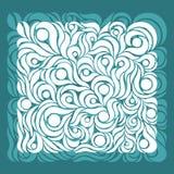 Ozdobny deseniowy aqua Obraz Stock