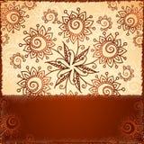 Ozdobny doodle kwitnie tło Obraz Royalty Free