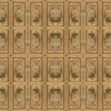 Ozdobny Drewniany Barokowy Bezszwowy wzór obrazy stock