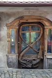 Ozdobny drzwi z rzemieślników szczegółami Obraz Royalty Free