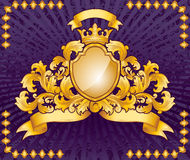 Ozdobny emblemat Fotografia Royalty Free