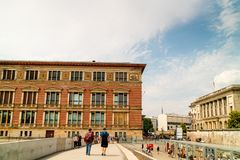 Ozdobny Gropius Bau budynek w Berlin, Niemcy obraz royalty free