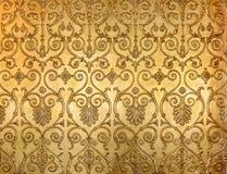 Ozdobny kwiecisty złoty wzór na ścianie w zima pałac eremu muzeum w Świątobliwym Petersburg, Rosja zdjęcie stock
