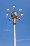 Ozdobny lampion przeciw niebieskiemu niebu przy Tiananmen, Pekin fotografia royalty free