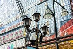 Ozdobny lamppost na miasto ulicie Zdjęcie Royalty Free
