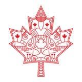 Ozdobny liść klonowy zdjęcie royalty free