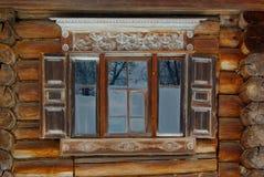 ozdobny nieociosany okno Fotografia Royalty Free