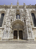Ozdobny portal Jeronimos monaster, Lisbon Fotografia Stock