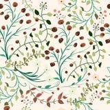 Ozdobny roślinność wzór Ilustracji