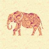 Ozdobny słoń Zdjęcie Stock