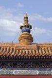 Ozdobny steeple sławna Lama świątynia, Pekin fotografia royalty free