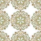 Ozdobny symmetric ornament w wschodu stylu na bezszwowym tle Zdjęcia Stock