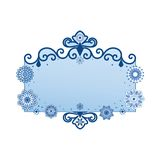 ozdobny sztandaru płatek śniegu Zdjęcie Royalty Free