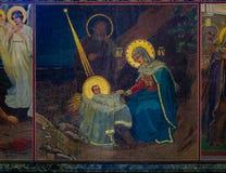 Ozdobny wnętrze i ikony wybawiciel na Rozlewałam krwi lub katedra rezurekcja Chrystus w Świątobliwym Petersburg, Rosja zdjęcia stock