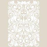 Ozdobny z stylizowanym motylem Kwiecisty tło z zawijasem i liśćmi Obraz Stock