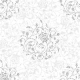 Ozdobnych kwiatów bezszwowy wzór popielaty Obraz Stock