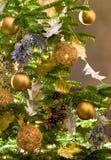 ozdoby świąteczne drzewko obrazy stock