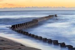 Ozean-Anlegestellen-Umwelt-North Carolina Lizenzfreies Stockfoto