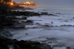 Ozean-Ansicht-Hotel-Rücksortierung Stockbilder