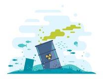 Ozean-Beseitigung des radioaktiven Abfalls Stockfotografie