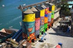 Ozean-Beton ist Granville Island Lizenzfreies Stockfoto