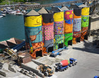 Ozean-Beton ist Granville Island Lizenzfreie Stockfotografie