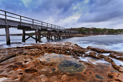 Ozean-bloßer Brückensonnenaufgang Lizenzfreie Stockfotografie