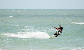 Ozean Bluesky und Kitesurf bei Thailand Lizenzfreies Stockfoto