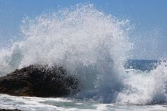 Ozean-Brecher Stockfotografie