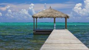 Ozean-Dock lizenzfreie stockfotografie