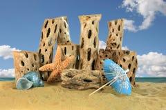 Ozean-Fantasie-Hintergrund-Szene Stockfotografie