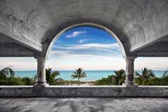 Ozean-Frontseiten-Villa stockfotografie